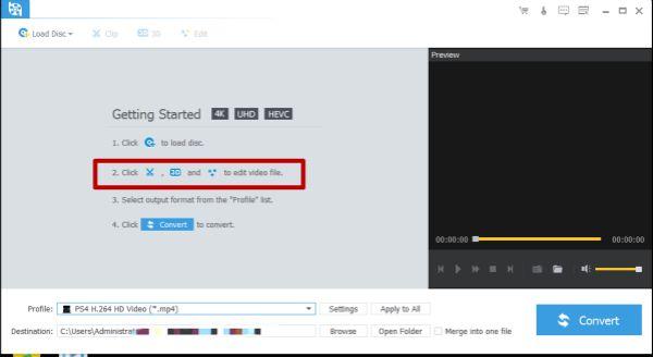 Edit 4K BD videos