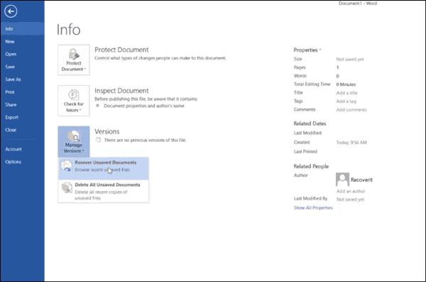 Recover Word Document Mac/Windows