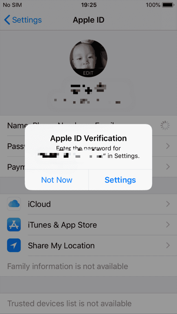 iPad keeps asking for Apple ID password