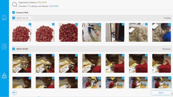 Compress photos on iPad