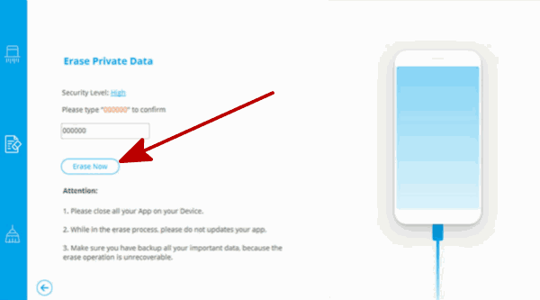 Erase photos from iPad