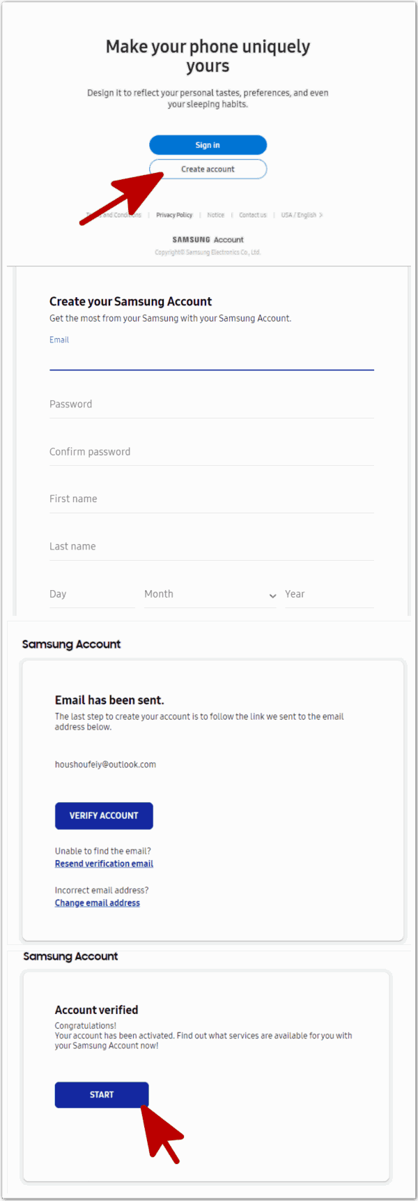 Samsung Account Recovery