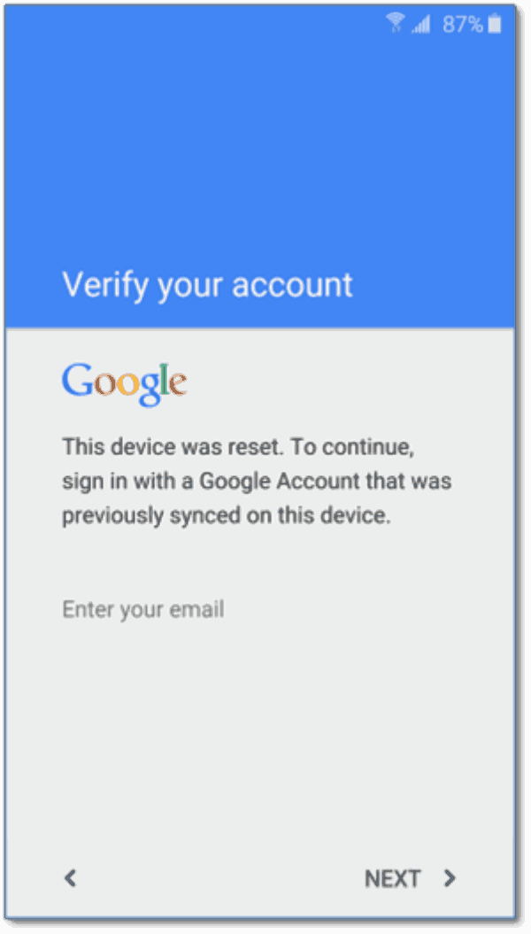 How to unlock Android phone with Google account
