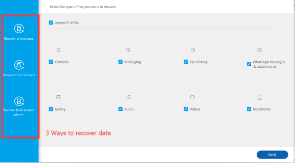 Android Data Recovery - Recover photos, messages, contacts