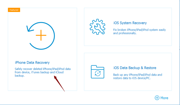 Click here to safly recover deleted iOS data from device,iTunes backup and iCloud backup