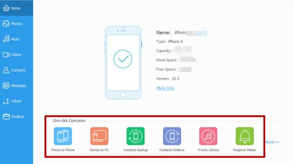 Manage data of iPhone