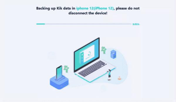 Backup Kik messages