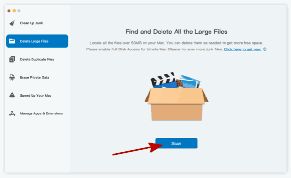 Delete large file