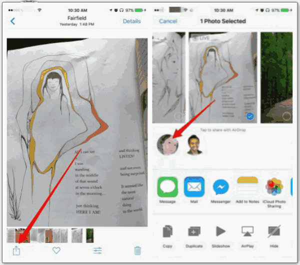 Transfer photos from iPhone to iPad