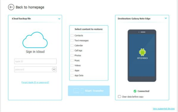 How to get photos from iCloud to phone