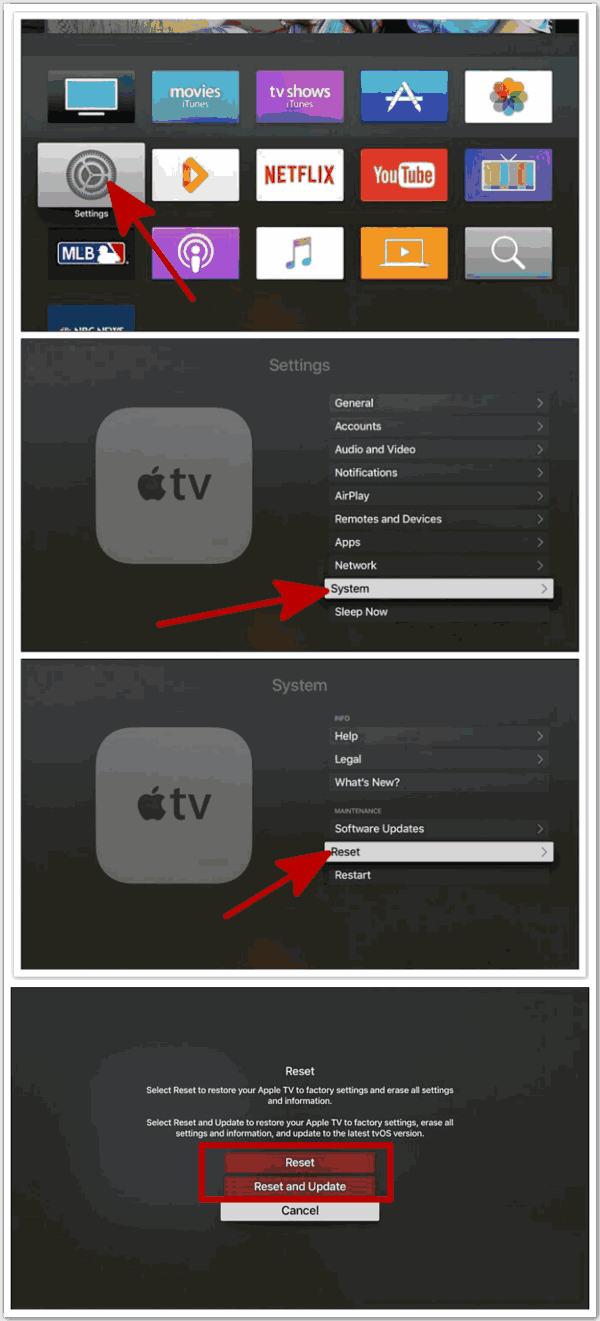 Apple TV black screen