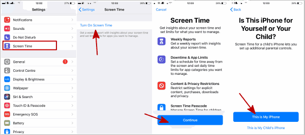 How to set screen time on iPhone