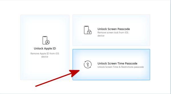 Unlock screen time passcode