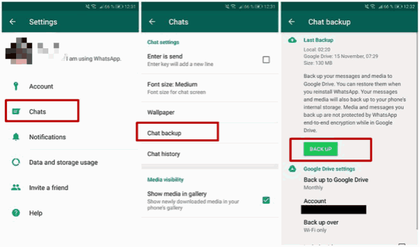 Transfer WhatsApp data from Samsung to Huawei