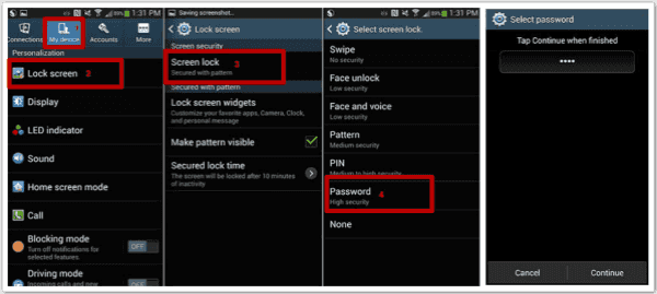 how to reset password on samsung phone