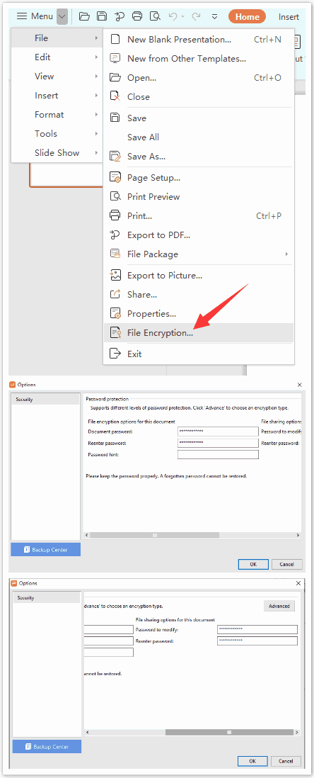 Remove ppt password encryption