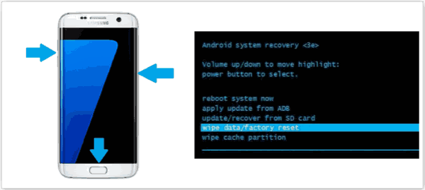 Reset Android phone when locked