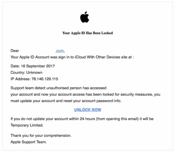 Apple ID has been locked