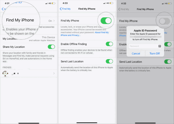 How to disable find my iPhone on a stolen phone
