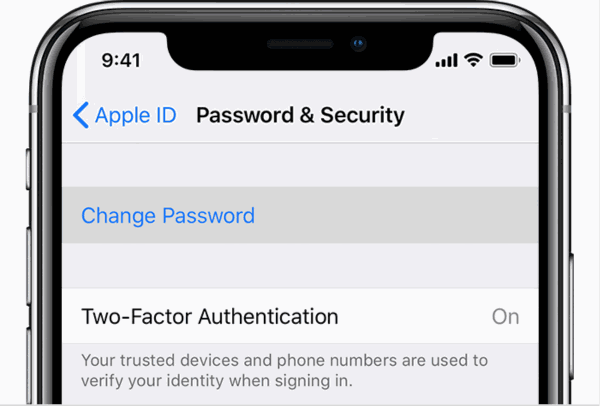 How to change Apple ID on iPhone without password