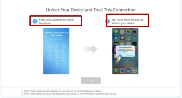 Trust PC in your iPhone