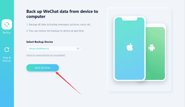 How to backup WeChat