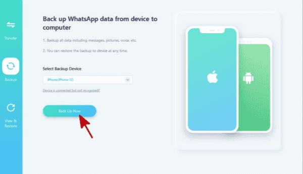 Backup old iPhone WhatsApp