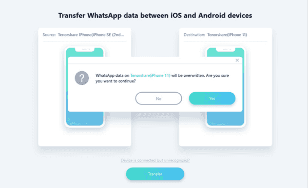 Transfer WhatsApp messages to new iPhone directly