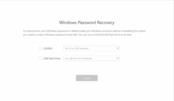 Whidows password remover